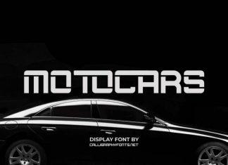 Motocars Display Font