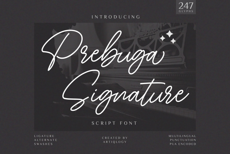 Prebuga Signature Script Font