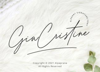Gia Cristine Handwritten Font