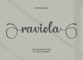 Raviola Calligraphy Font