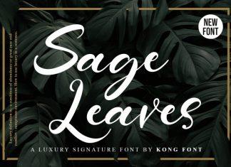 Sage Leaves Script Font