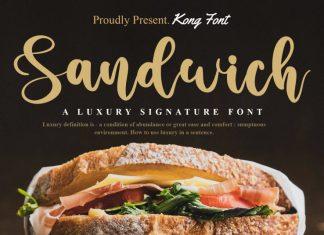 Sandwich Script Font