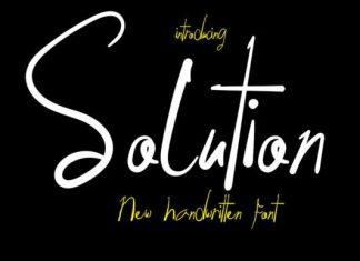 Solution Handwritten Font