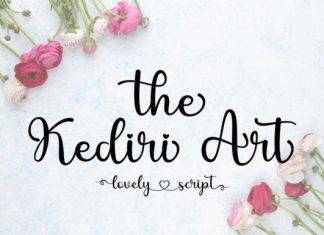 The Kediri Art Script Font