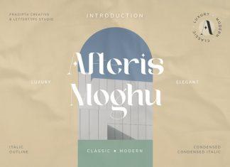 Afteris Moghu Serif Font