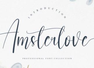 Amsterlove Calligraphy Font
