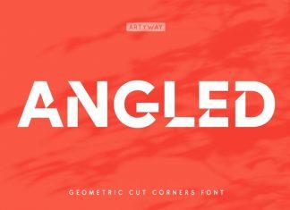 Cut Angles Display Font