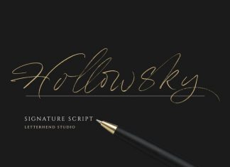 HollowSky Script Font