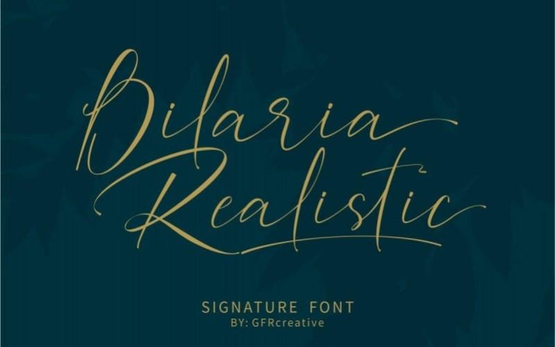 Bilaria Realistic Script Font