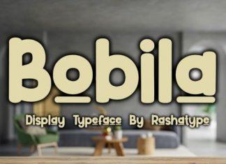 Bobila Display Font