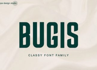 Bugis Sans Serif Font