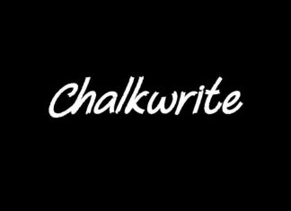 Chalkwrite Display Font