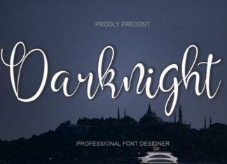 Darknight Calligraphy Font