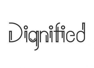 Dignified Display Font