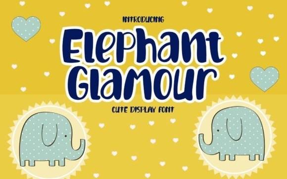 Glamour Elephant Display Font