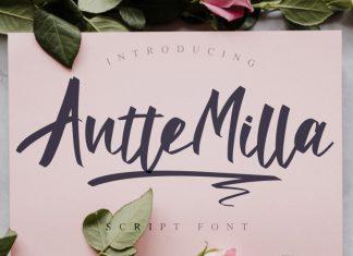 Antte Milla Brush Font
