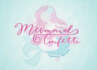 Mermaid Confetti Script Font