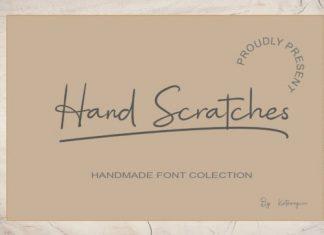 Hand Scratches Handwritten Font