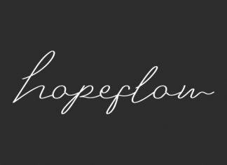 Hopeflow Handwritten Font