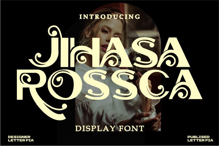 Jihasa Rossc Display Font