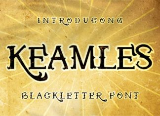 Keamles Display Font