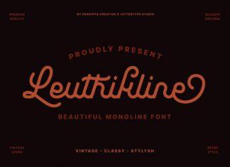 Leuthikline Script Font