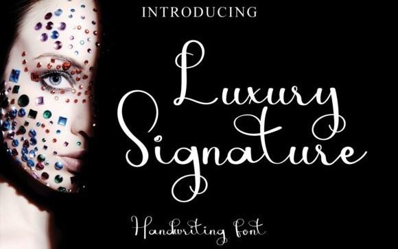 Luxury Calligraphy Font