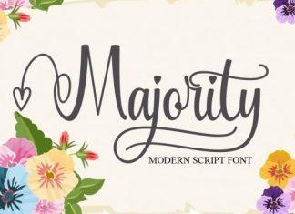 Majority Calligraphy Font