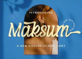 Maksum Script Font