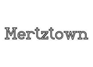 Mertztown Display Font