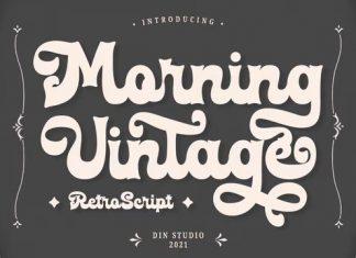 Morning Vintage Script Font