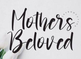 Mothers Beloved Calligraphy Font