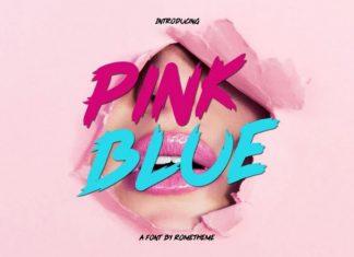 Pink Blue Brush Font