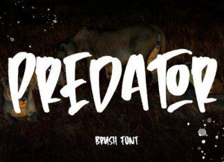 Predator Brush Font