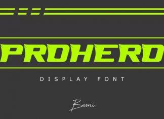 PROHERO Display Font