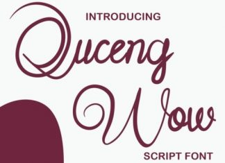 Quceng Woc Script Font