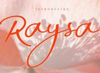 Raysa Script Font