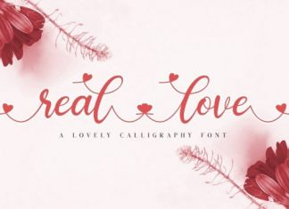 Reallove Calligraphy Font