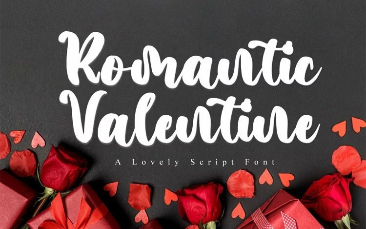 Romantic Valentine Script Font