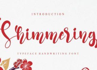 Shimmering Calligraphy Font