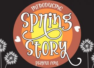 Spring Story Display Font