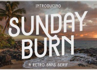 Sunday Burn Sans Serif Font