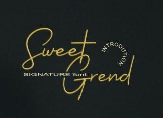 Sweetgrend Handwritten Font