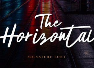 The Horizontal Script Font
