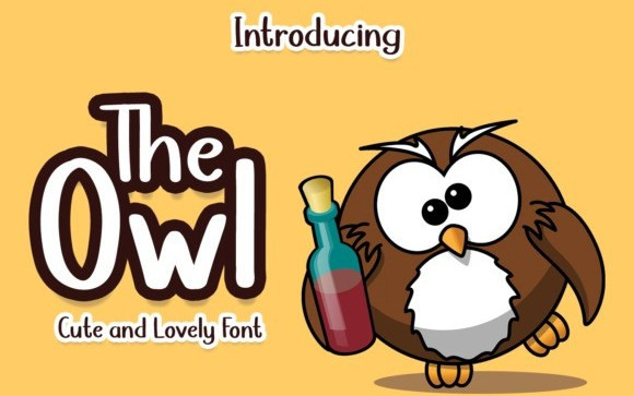 The Owl Display Font