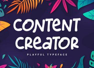 Content Creator Display Font