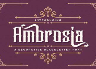 Ambrosia Blackletter Font