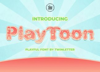 Playtoon Display Font
