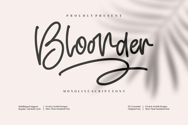 Bloonder Handwritten Font