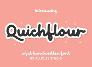 Quichflour Handwritten Font
